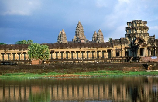 Angkor Wat Temple in Cambodia : Stock Photo