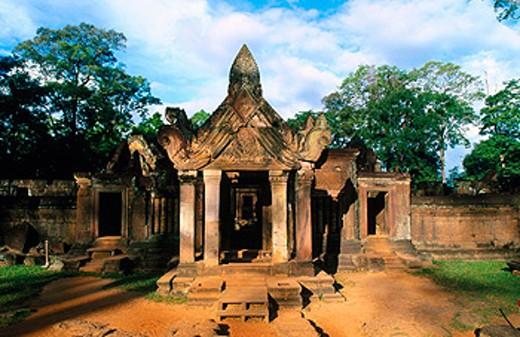 Stock Photo: 1566-0131210 Banteay Srei Temple in Angkor. Cambodia