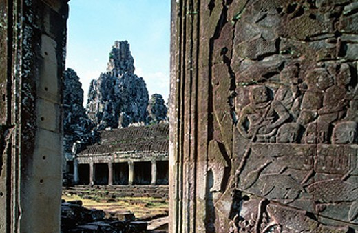 Stock Photo: 1566-0131217 Bayon Temple in Angkor. Siem Reap. Cambodia