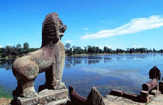 Srah Srang Basin. Angkor. Cambodia : Stock Photo