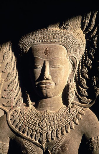 Stock Photo: 1566-0131225 Sculpture in Angkor Wat Temple. Angkor. Siem Reap. Cambodia