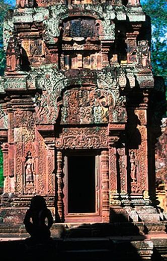 Banteay Srei Temple in Angkor. Cambodia : Stock Photo