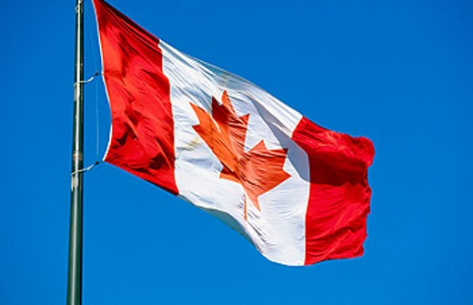 Canadian flag : Stock Photo