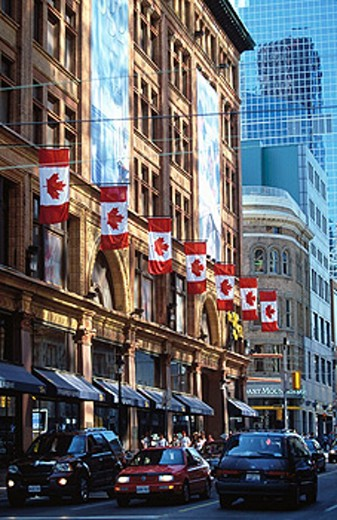 Stock Photo: 1566-0131339 Young Street in Toronto. Ontario. Canada