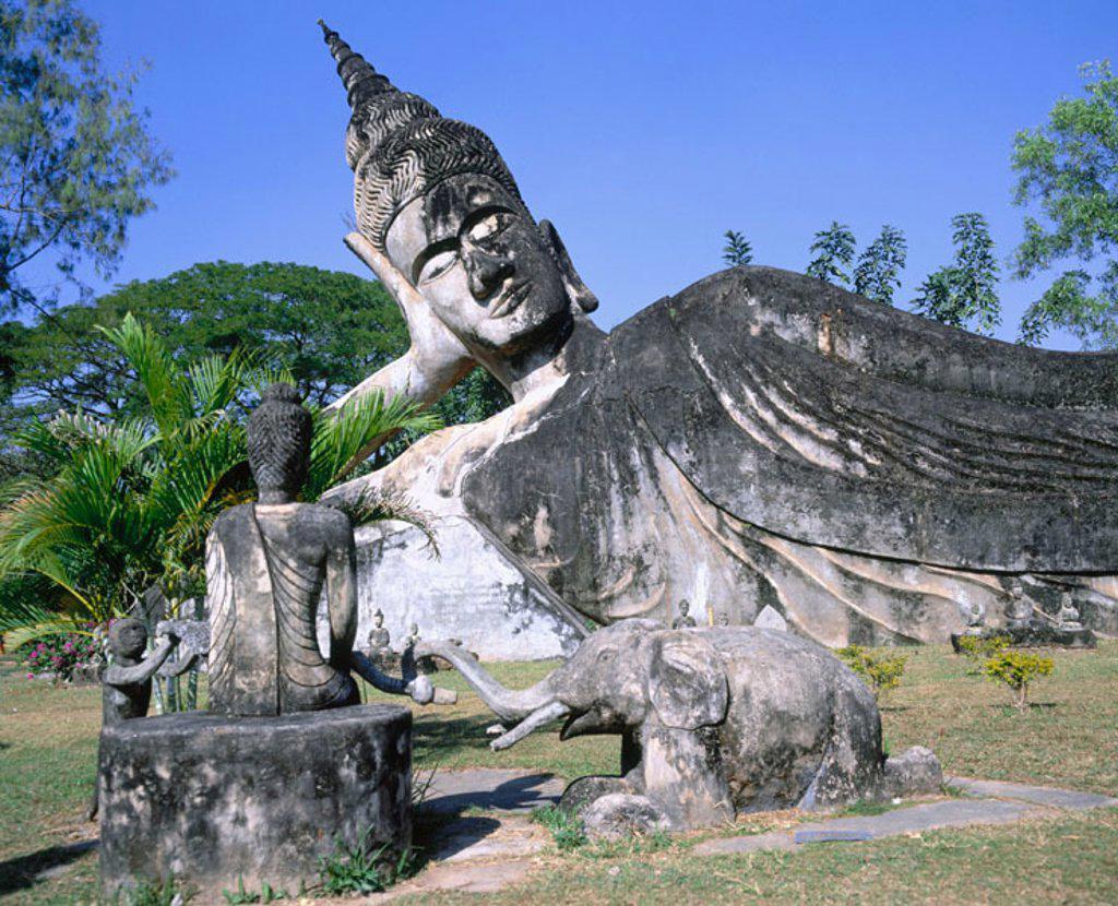 Stock Photo: 1566-0131681 Buddha Park. Vientiane. Laos