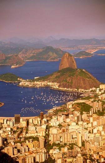 Stock Photo: 1566-0131836 Rio de Janeiro viewed from Corcovado. Brazil