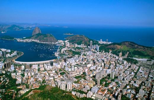Beach and Bay of Botafogo. Rio de Janeiro. Brazil : Stock Photo