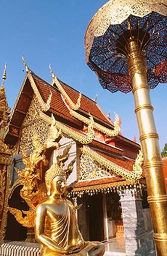 Stock Photo: 1566-0132033 Temple Wat Phra That Doi Suthep. Chiang Mai. Thailand
