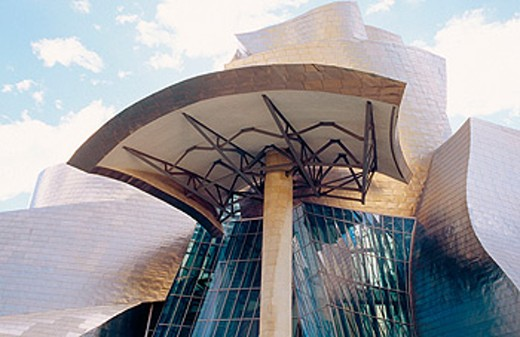 Stock Photo: 1566-0133213 Museum Guggenheim, by Frank O. Gehry. Bilbao. Biscay. Spain