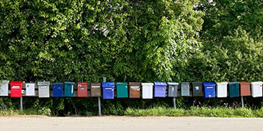 Stock Photo: 1566-0134083 Mailboxes. Sweden