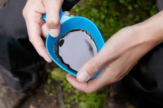 Man drinking coffee outdoor. Skåne. Sweden : Stock Photo