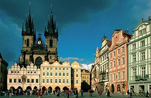 Stock Photo: 1566-0136219 Old town square and Tyn Church. Prague. Czech Republic