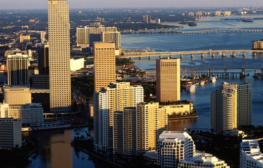 Downtown condos and offices. Miami. USA : Stock Photo
