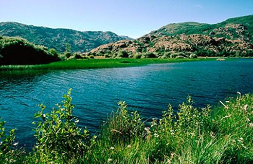 Stock Photo: 1566-0136794 Sanabria Lake in Zamora province. Castilla y Leon. Spain