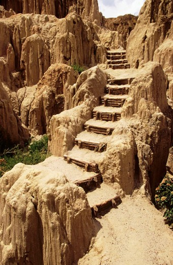 Badland rocks. Valle de la Luna (Valley of the Moon). La Paz. Bolivia : Stock Photo