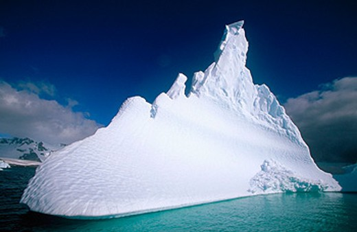 Castle-shaped iceberg. Pleneau Island. Antartica : Stock Photo
