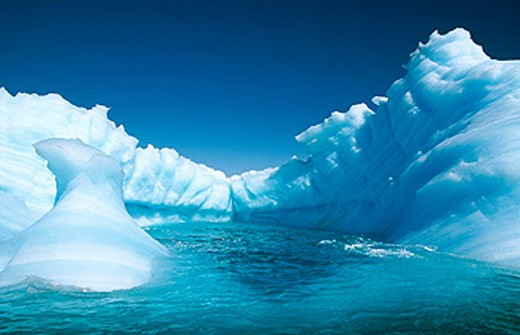 Eroded iceberg in Lemaire Channel. Antarctic Peninsula. Antarctica : Stock Photo