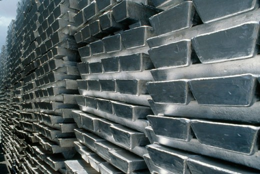 Stock Photo: 1566-0140294 Aluminum bricks