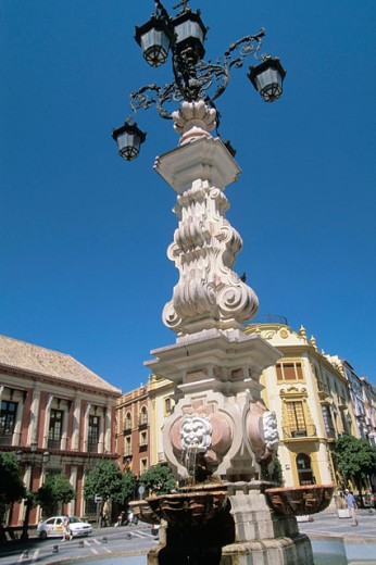 Fountain in square. Seville. Spain : Stock Photo
