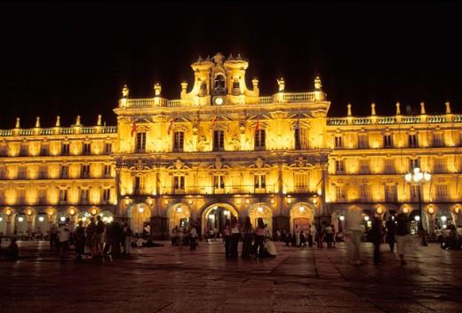Stock Photo: 1566-0141211 Town Hall at Main Square. Salamanca. Spain