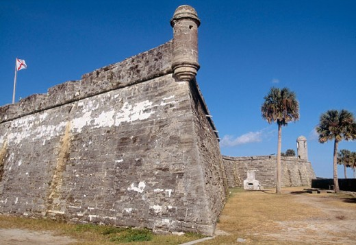 San Marcos Castle (c.1672). Saint Augustine. Florida. USA : Stock Photo
