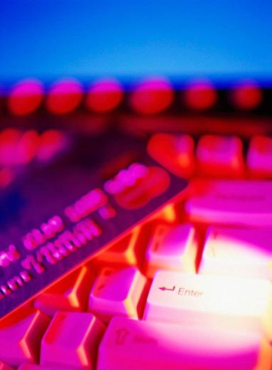 Stock Photo: 1566-0141821 Computer keyboard and credit card