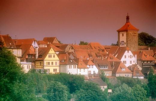 Rothenburg ob der Tauber. Bavaria. Germany : Stock Photo