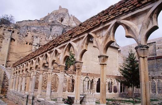San Francisco Monastery in Morella. Castellón province. Comunidad Valenciana. Spain : Stock Photo