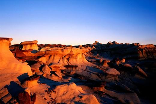 Bisti Badlands Wilderness Area. New Mexico. USA : Stock Photo