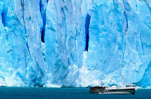 Stock Photo: 1566-0145643 Perito Moreno glacier. Los Glaciares NP. Patagonia. Argentina