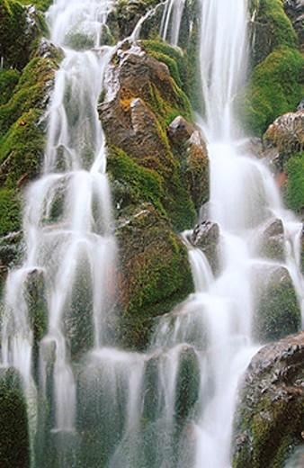 Stock Photo: 1566-0145799 Waterfall, Bachalp. Berner Oberland. Switzerland