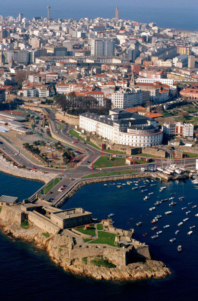 Stock Photo: 1566-0147814 San Anton Castle in A Coruña. Galicia. Spain