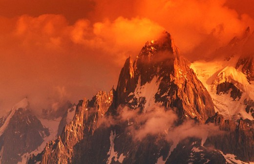 Aiguille du Midi. French Alps : Stock Photo