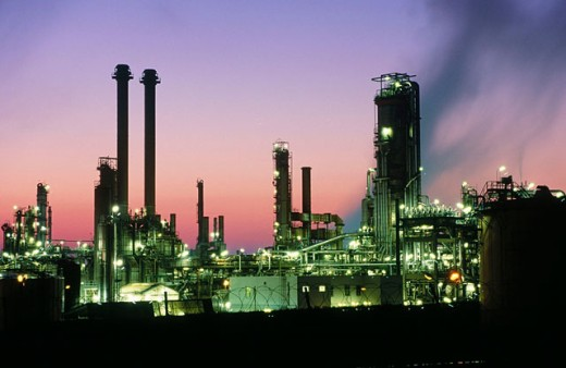 Refinery at Schwechat (near Vienna). Austria : Stock Photo