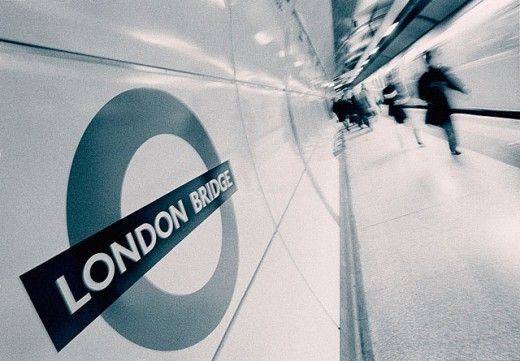 London Bridge subway station. London. England : Stock Photo