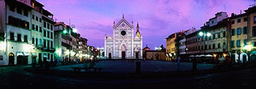 Church of the Santa Croce. Florence. Italy : Stock Photo