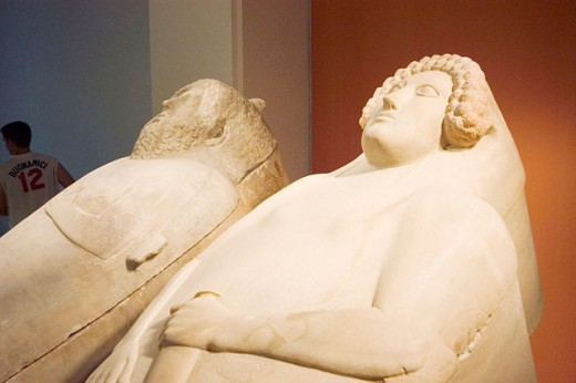 Phoenician sarcophagi at museum. Cádiz, Spain : Stock Photo