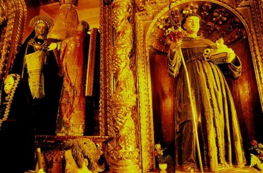 Stock Photo: 1566-0151455 Side altar detail. Yavi Church. Jujuy province. Argentina