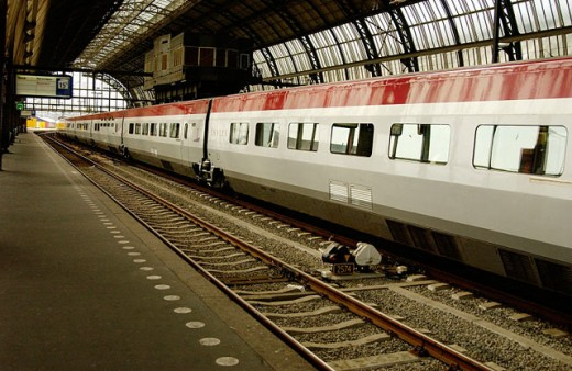 Central Station of Amsterdam. Netherlands : Stock Photo