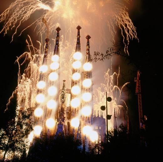 Sagrada Familia temple. Barcelona. Spain : Stock Photo
