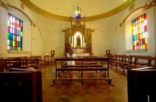 Interior of church. El Salvador : Stock Photo