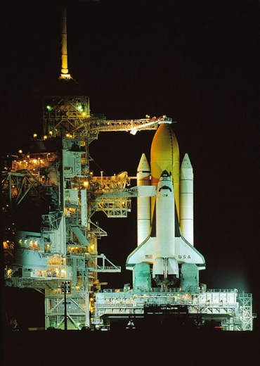 Shuttle ´Columbia´ at launch pad. KSC. NASA. Florida. USA. : Stock Photo