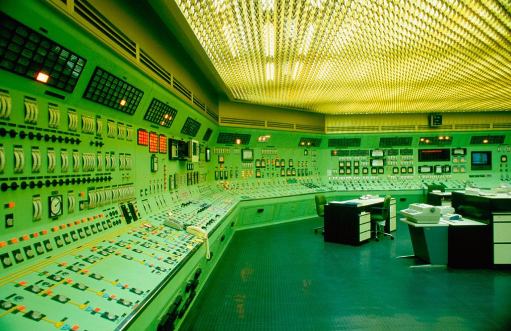Stock Photo: 1566-0157355 Control room in the nuclear power plant of Almaraz. Cáceres province. Spain
