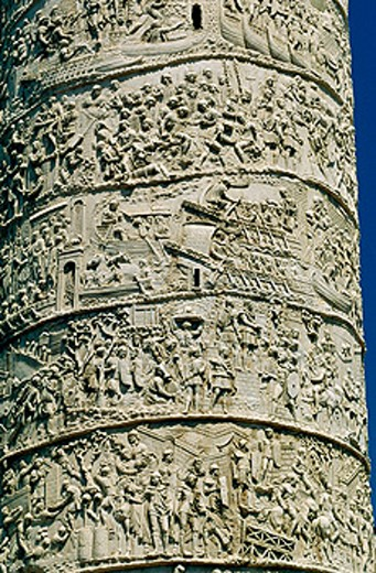 Detail of Trajan´s column. Rome. Italy : Stock Photo