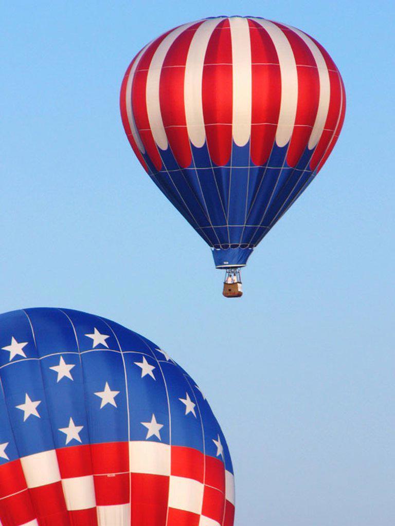 Stock Photo: 1566-0157612 Hot air balloon races. Miami. USA