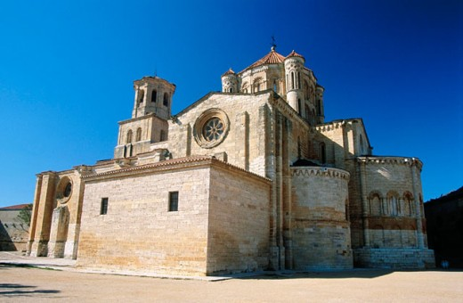 Collegiate church of Santa Maria la Mayor (12th-13th Centuries). Toro. Zamora province. Castilla y Leon. Spain : Stock Photo