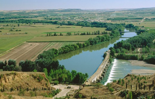 Duero river. Toro. Zamora province. Castilla y Leon. Spain : Stock Photo