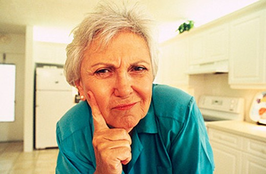 concerned senior : Stock Photo