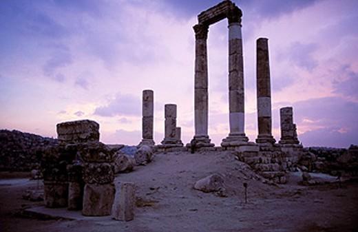 Archeological site. Amman. Jordan : Stock Photo