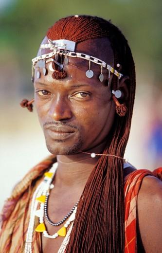 Maasai warrior. Tanzania : Stock Photo